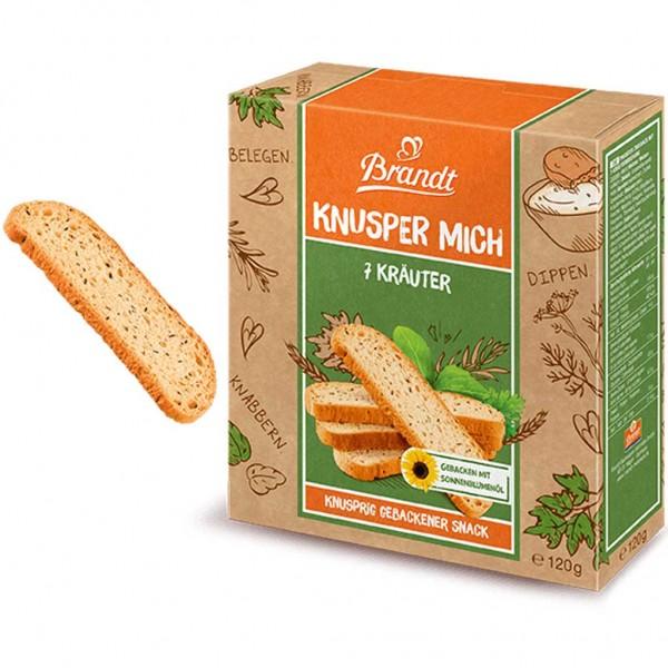 7x Brandt Knusper Mich 7 Kräuter Gebäck á 120g=840g MHD:17.3.19