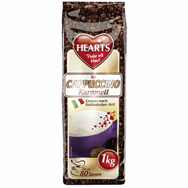 Hearts Cappuccino Typ Karamell 1000g Instant MHD:31.5.23