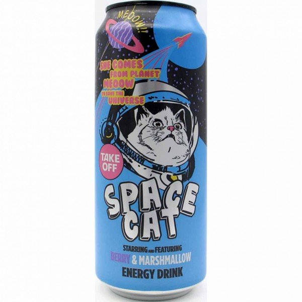 500ml Energy Drink Space Cat Berry & Mashmallow MHD:4/21
