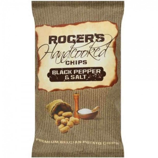 20x Rogers Chips Black Pepper & Salt á 40g=800g MHD:8.3.19