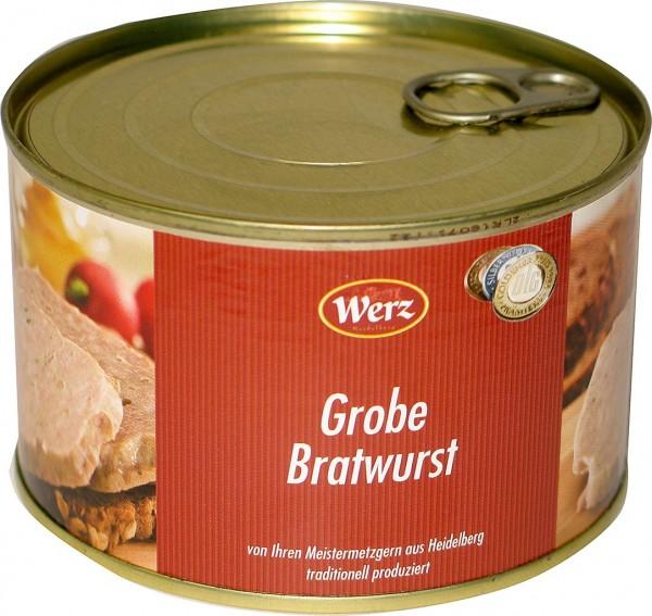 Hausmacher Dosenwurst Grobe Bratwurst 400g MHD 11/19