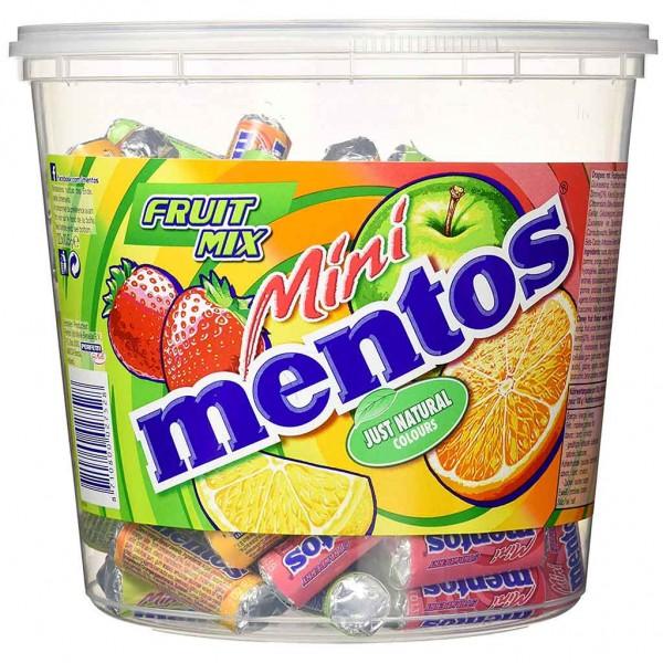 mentos Mini Fruit Mix 120er Eimer 1260g MHD:9/20