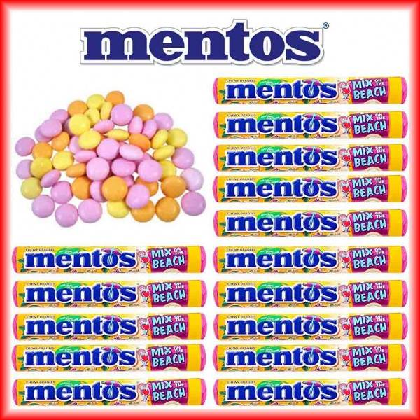 15x mentos Mix on the Beach Limited Edition Dragees á 37,5g = 562,5g MHD:4/20