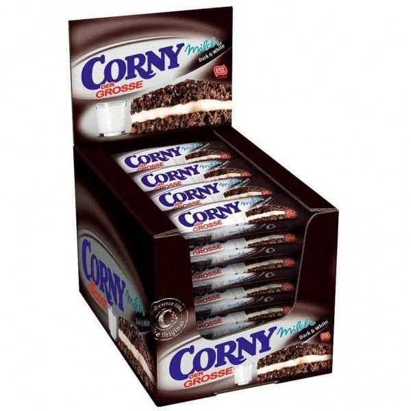 24x Corny Der Grosse Milch Dark & White á 40g=960g MHD:12.3.22