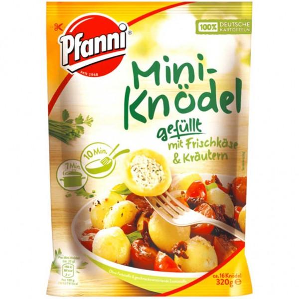 7x Pfanni Mini-Knödel Frischkäse Kräuter á 320g=2,24kg MHD:3.4.19