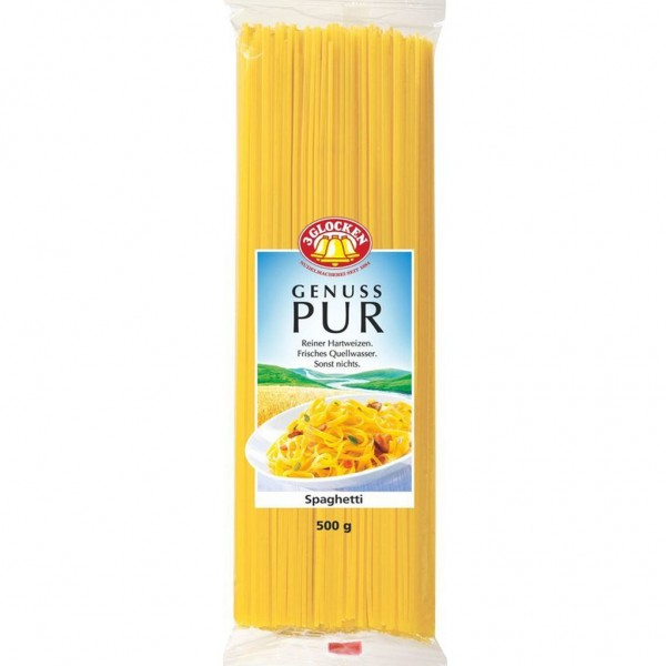 4x 3Glocken Genuss Pur Spaghetti á 500g=2kg MHD:6/21