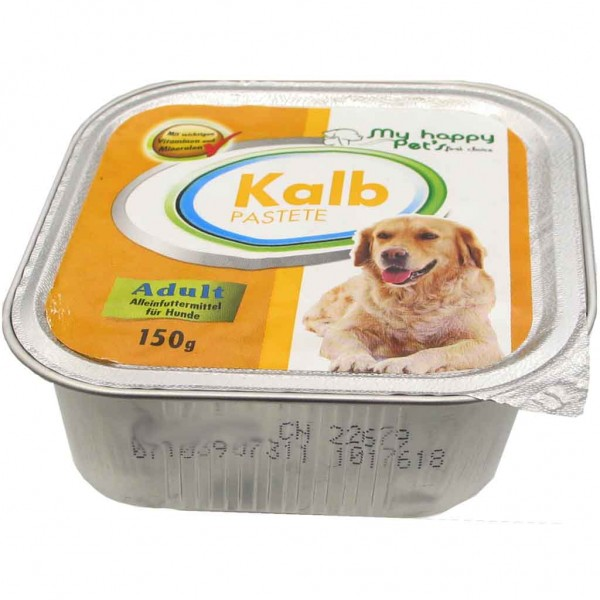 Hundefutter my happy Pets Kalb Pastete 150g MHD:6/20