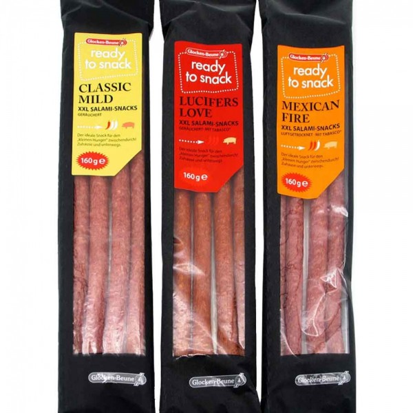 XXL Salami Snacks Lucifers Love 160g MHD:6.6.19