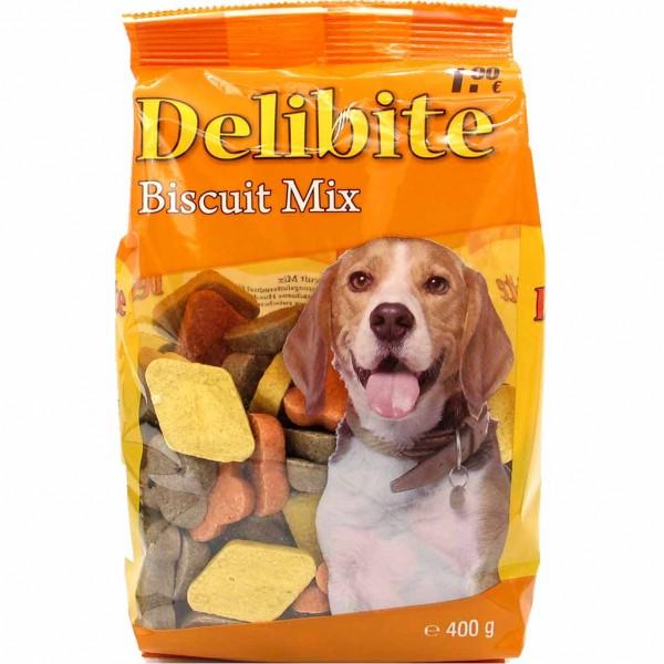 Delibite Biscuit Mix Hundesnack 400g MHD:7.12.21