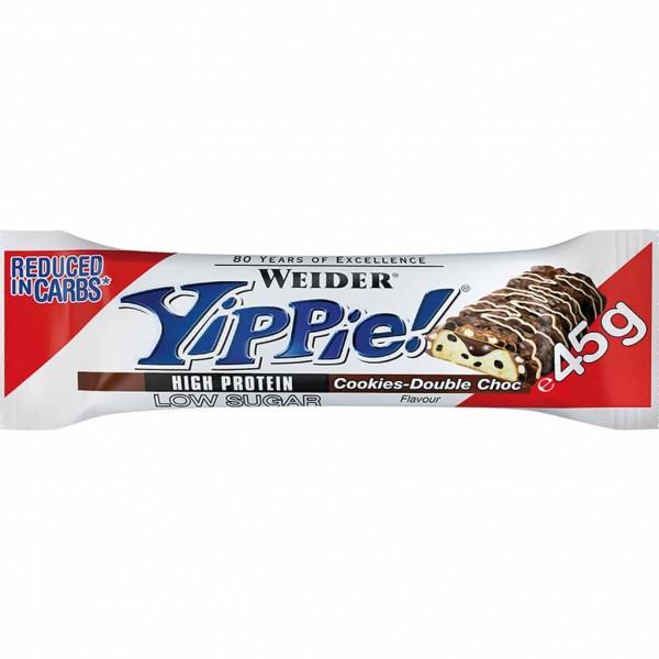 12x Yippie! Protein Riegel Cookies & Double-Choc á 45g=540g MHD:30.12.22