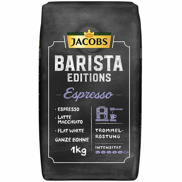 Jacobs Barista Editions Espresso ganze Bohnen 1000g MHD:3.12.22